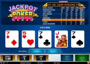 Video poker game